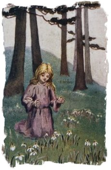 Sybil barham postcard - 'Starred with Snowdrops'