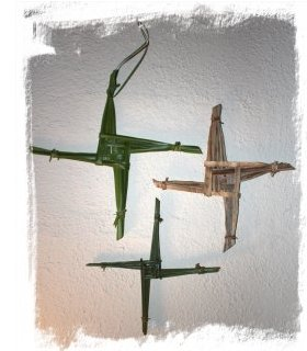 Brigid's Crosses for Imbolc by faery Muddypond Green